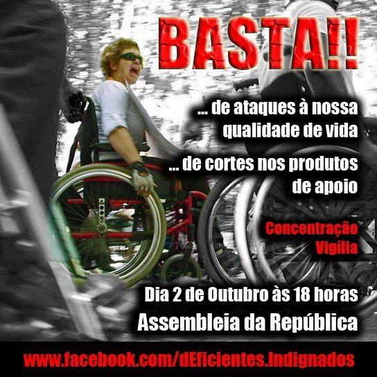 Começa hoje a vigília pela qualidade de vida das pessoas com deficiência