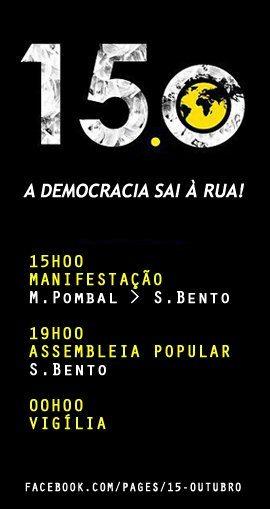 15 de Outubro a Democracia sai à rua! - #globaldemocracy