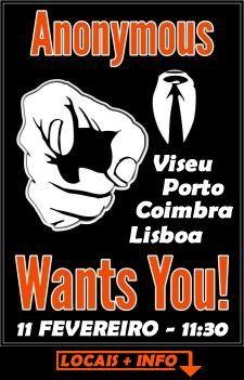 ACTA: protestos mundiais dia 11 com forte adesão em Portugal