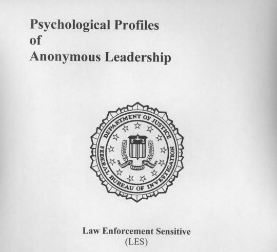 Documento do FBI: perfil psicológico da liderança dos Anonymous