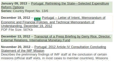 FMI e Governo mentem escaradamente sobre data da colocação online da sexta revisão